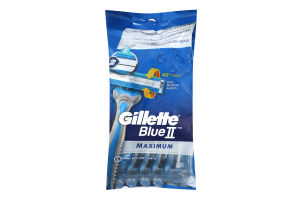Бритви одноразові Maximum Blue II Gillette 8шт