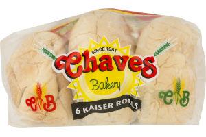 Chaves Bakery Kaiser Rolls - 6 CT