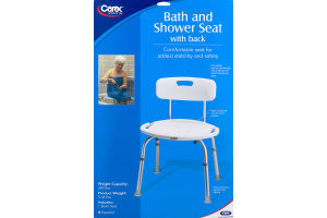 Carex Bath and Shower Seat with Back