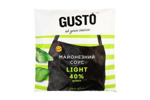 """Майонезний соус Gusto """"Легкий"""" 40% жиру 350г ф-п"""