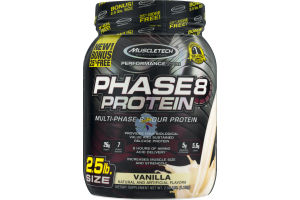 MuscleTech Performance Series Phase 8 Protein Dietary Supplement Vanilla