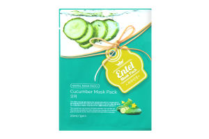 Маска для лица тканевая Cucumber Entel 20мл