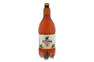 Пиво 1.8л 8% світле фільтроване пастеризоване Тетерів Перша приватна броварня п/пл