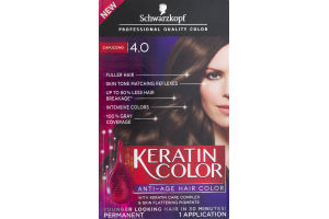 Schwarzkopf Keratin Color Permanent Anti-Age Hair Color 4.0 Capuccino
