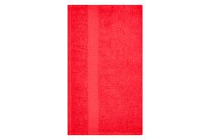 Полотенце махровое красное 40х70см 400г/м2 Саффран 1шт