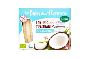 Хлібці LePaindesFleurs органічні безглютенові з кокосом 150г