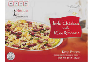 Neilly's Global Cuisine Jerk Chicken with Rice & Beans