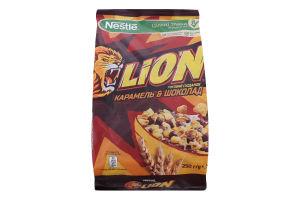 Сніданки сухі карамель та шоколад Lion м/у 250г