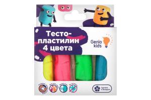 Набор для лепки для детей от 3лет №ТА1082 Тесто-пластилин 4 цвета Genio Kids 1шт