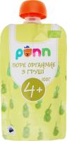 Фруктовое органическое пюре Ponn груша, 100 г