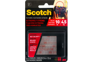 Scotch Fasteners Extremely Strong Clear - 4 CT
