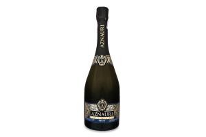 Вино ігристе 0.75л 10-13.5% біле брют Aznauri пл