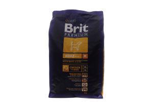 Корм Brit для собак сухий з куркою М 3кг х6