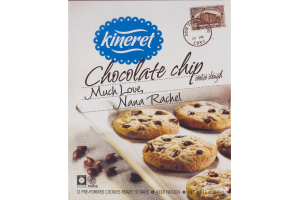 Kineret Chocolate Chip Cookie Dough Pre-Formed Cookies Ready To Bake - 12 CT
