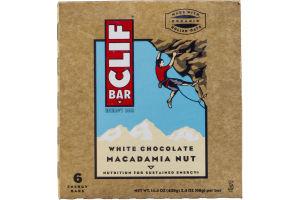 Clif Bar White Chocolate Macadamia Nut Energy Bar - 6 CT
