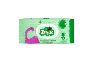 Салфетки влажные для детей с экстрактом алоэ вера Zeffir 72шт