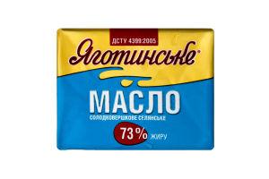 Масло 73% крестьянское сладкосливочное Яготинське м/у 200г