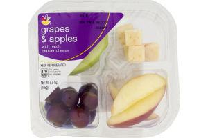 Ahold Grapes & Apples with Hatch Pepper Cheese