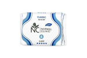 Прокладки гігієнічні Super Classic Silk&Dry Normal Clinic 6шт