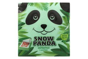 Серветки зелені Сніжна панда 100шт