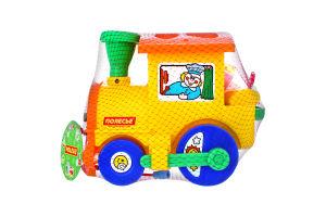 Игрушка развивающая для детей 1-3лет №6189 Занимательный паровоз Полесье 1шт