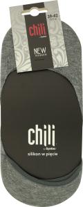 Носки-следы женские Chili 39-42 серый