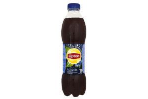 """Напій безалкогольний """"Холодний чорний чай """"Ліптон"""" зі смаком лохини"""" негазований 1л ТМ """"Lipton"""""""
