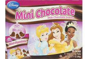 Disney Princess Mini Chocolate Snacks- 6 PK