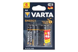 Батарейка AA 1.5V LR6 Varta 6шт
