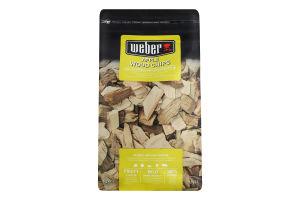 Дерев'яні чіпси для копчення Яблуня Weber 0.7кг