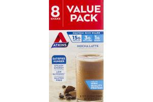 Atkins Protein-Rich Shake Mocha Latte - 8 PK