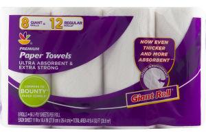Ahold Premium Paper Towels Giant Rolls - 8 CT