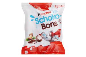Цукерки з молочно-горіховою начинкою Kinder Schoko-Bons м/у 125г