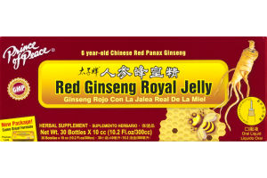Prince of Peace Red Ginseng Royal Jelly Herbal Supplement Bottles - 30 CT