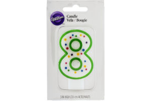 Wilton Candle 3 IN High Numeral 8 Green