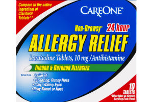 CareOne Allergy Relief Non-Drowsy 24 Hour Tablets 10 mg - 10 CT