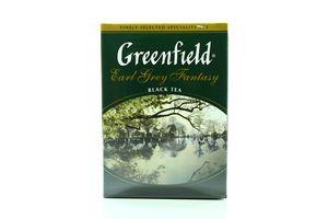 Чай черный цейлонский листовой Earl Grey Fantasy Greenfield к/у 100г