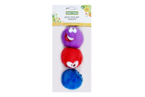 Набір іграшок для дітей від 6міс для ванни №9023 Смайлики Baby Team 1шт