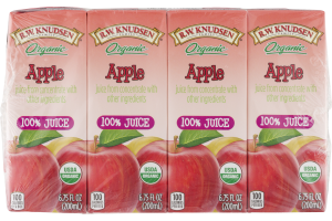 R. W. Knudsen Family Organic 100% Juice Apple - 4 CT