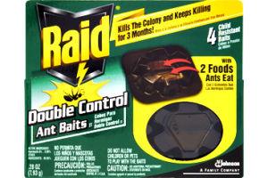 Raid Double Control Ant Baits - 4 CT