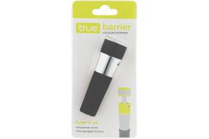True Barrier Vacuum Stopper
