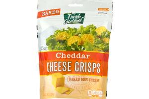 Fresh Gourmet Cheddar Cheese Crisps Baked