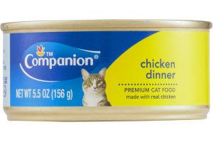 Companion Premium Cat Food Chicken Dinner 5.5 OZ