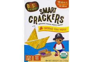 Bitsy's Brainfood Smart Crackers Cheddar Chia Veggie