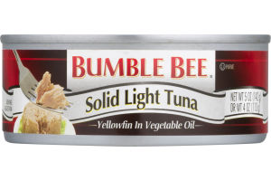 Bumble Bee Solid Light Tuna Yellowfin in Vegetable Oil