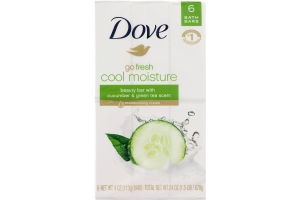 Dove go fresh Beauty Bar Cucumber and Green Tea 4 oz, 6 Bar