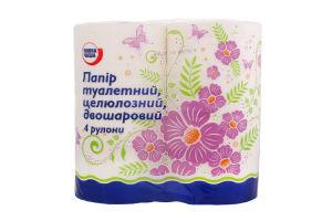 Бумага туалетная Повна Чаша двухслойная белая