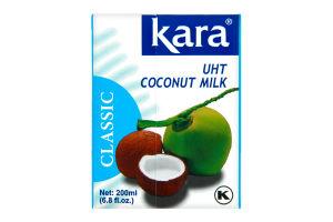 Молоко кокоcове 17% натуральне пастеризованное Kara т/п 200мл