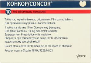 Конкор 10мг №50 тб.