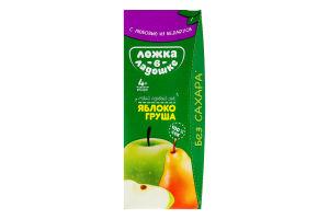 Сік для дітей від 4міс Яблуко-груша Ложка в ладошке т/п 200мл